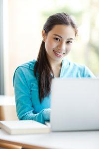 high school student doing online school